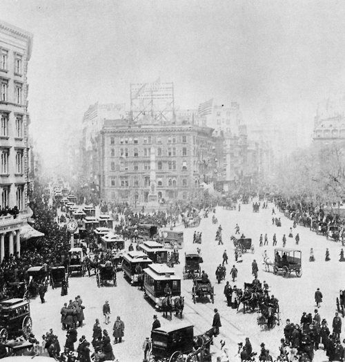 Madison Square looking north, New York City, 1893. Source: Library of Congress.