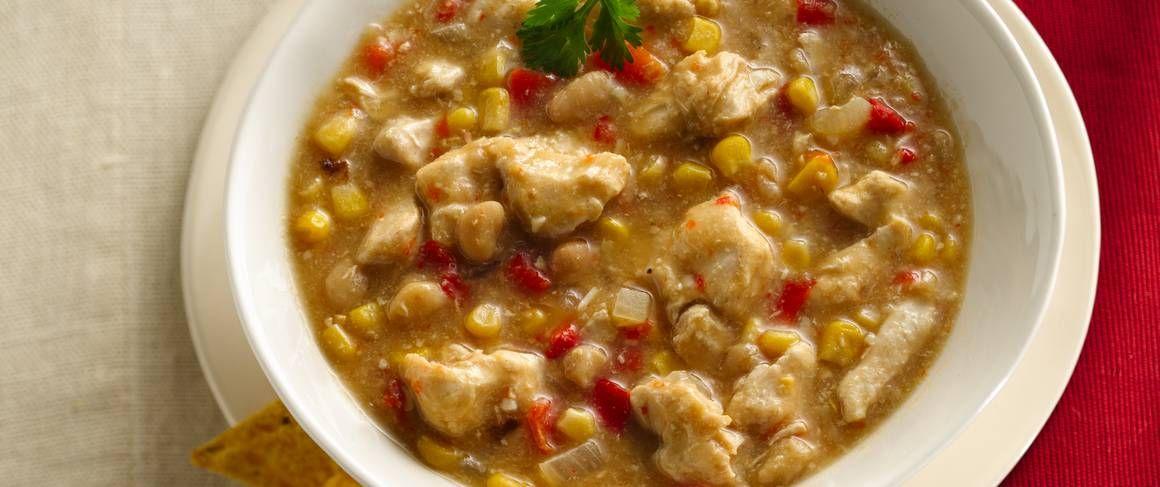 Slow Cooker White Chicken Chili Recipe Recipes White Chicken Chili Slow Cooker White Chili Chicken Recipe