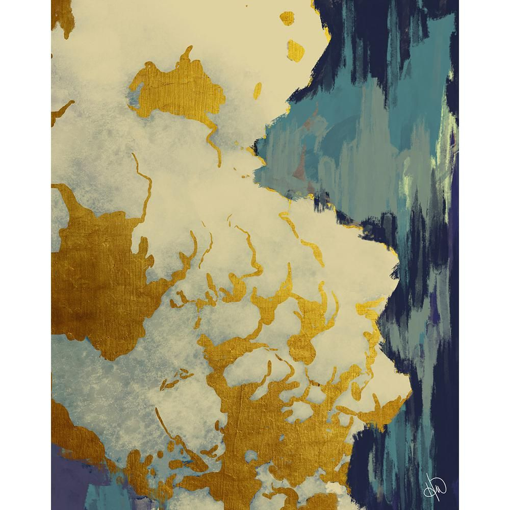 Creative gallery 16 in x 20 in gold lining turquoise