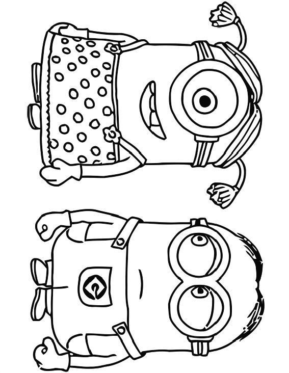 Minions Despicable Me | coloring book in 2018 | Pinterest | Colores ...