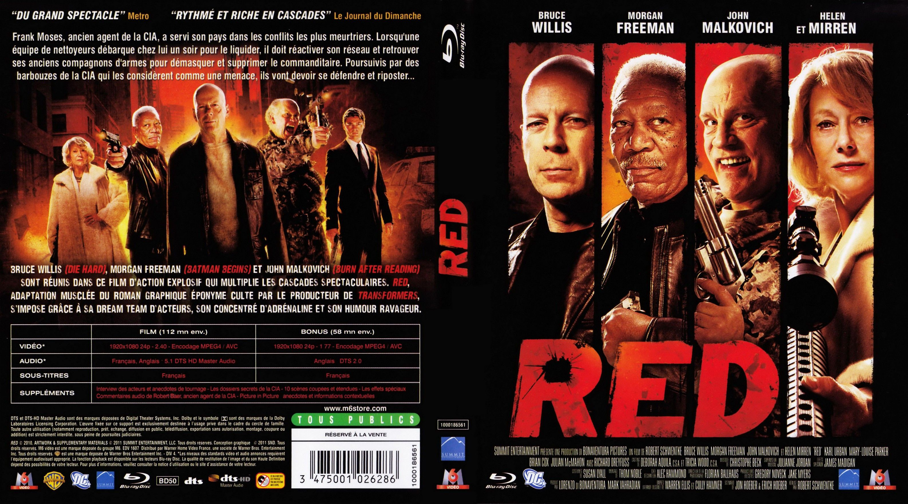Red 2010 High Quality Dvd Blueray Movie Dvd Sleeves Dvd Covers Movie Covers