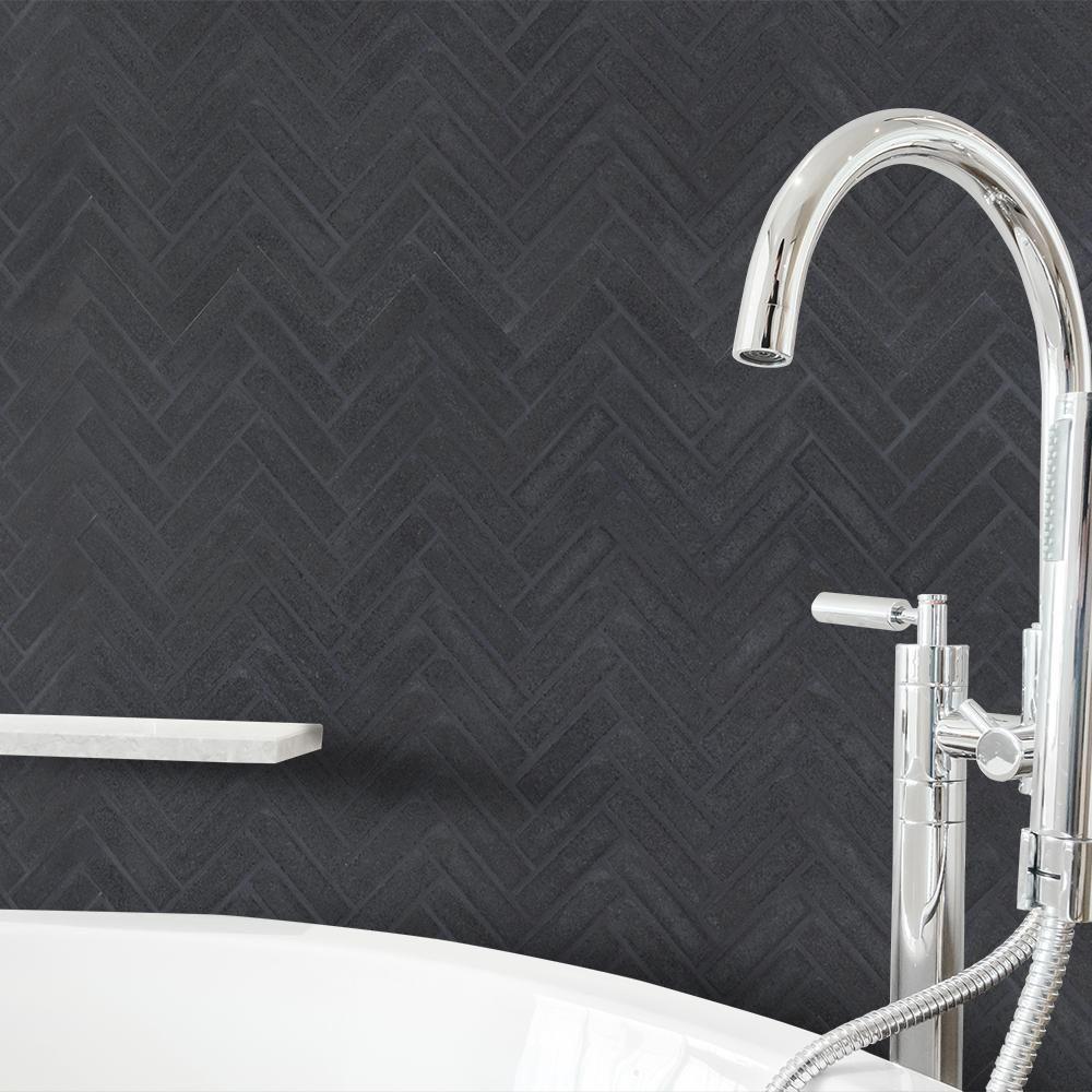 Jeff lewis manhattan 10 in x 11 in x 8 mm honed basalt for Jeff lewis bathroom design ideas