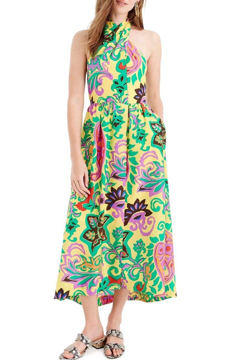 56b7dec1c6 J.Crew Paisley Silk Maxi Sarong Dress