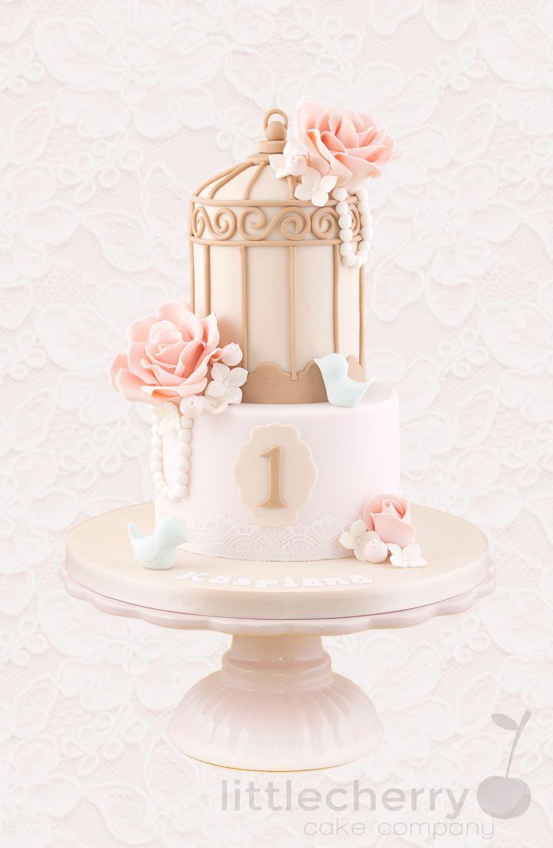 Vintage 1st Birthday Cake Birthday cakes Cake and Birthdays