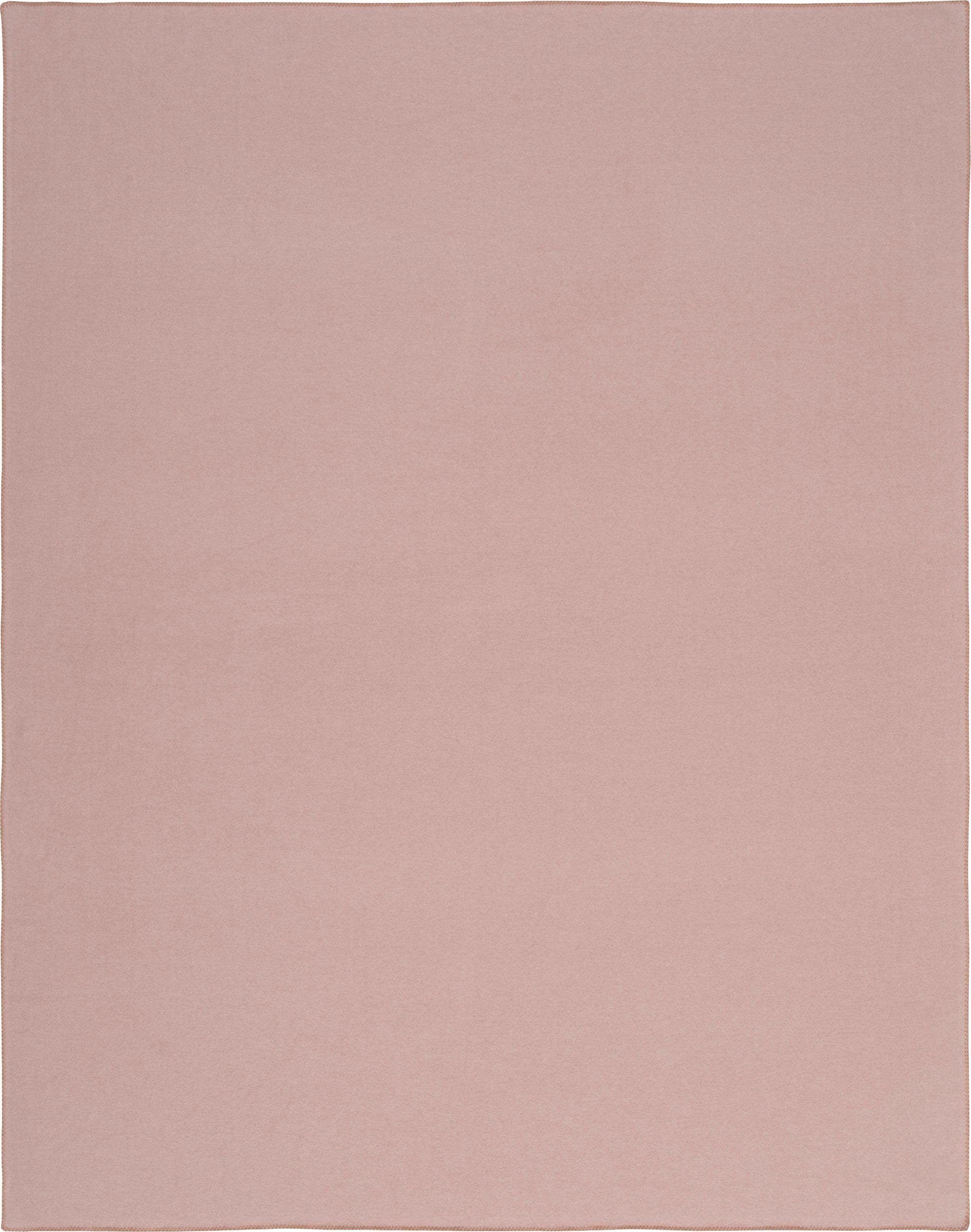 Wohndecke, rosa, Material Fleece »Trevi«, ESTELLA, unifarben