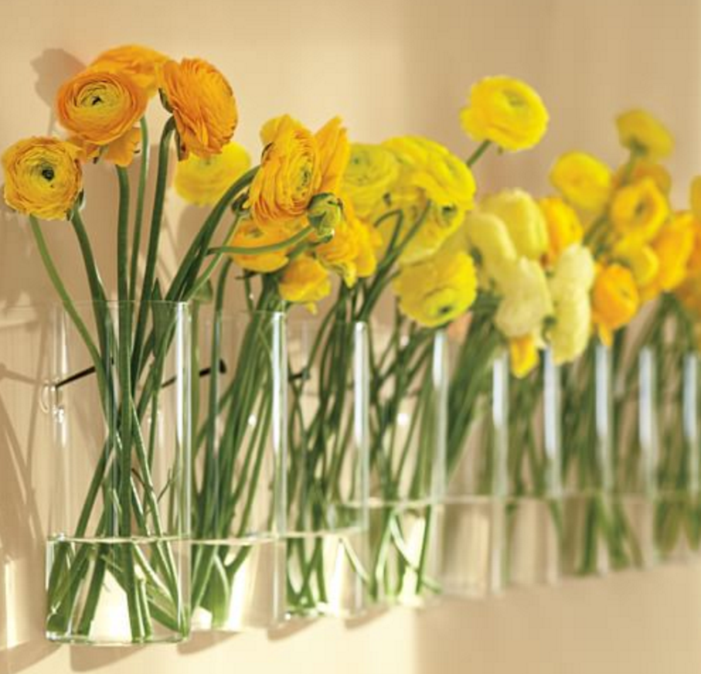 Wall-Mounted Multi-Stem Vase | Home  | Pinterest | Wall ...