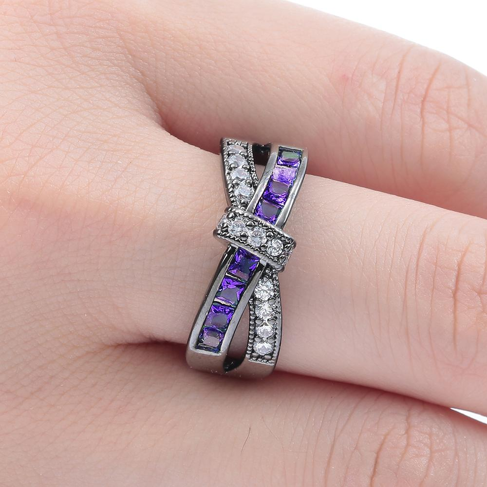Cross Finger Ring for Women- Paved Zircon Crystals Ring -Luxury ...