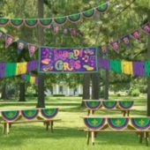 Mardi Gras Outdoor Decorating Kit - Party City