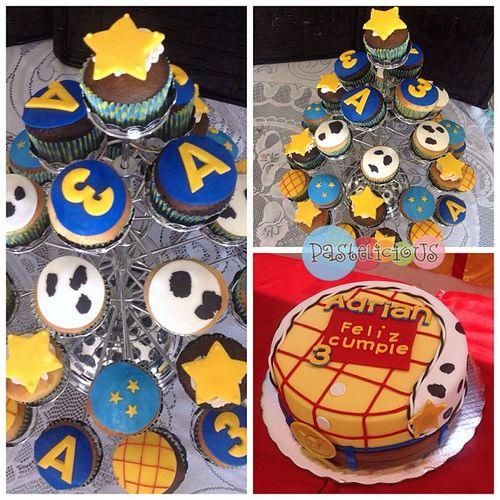 #pastelicious #birthdaycake #fondantcake #cupcakes #toystory #woody