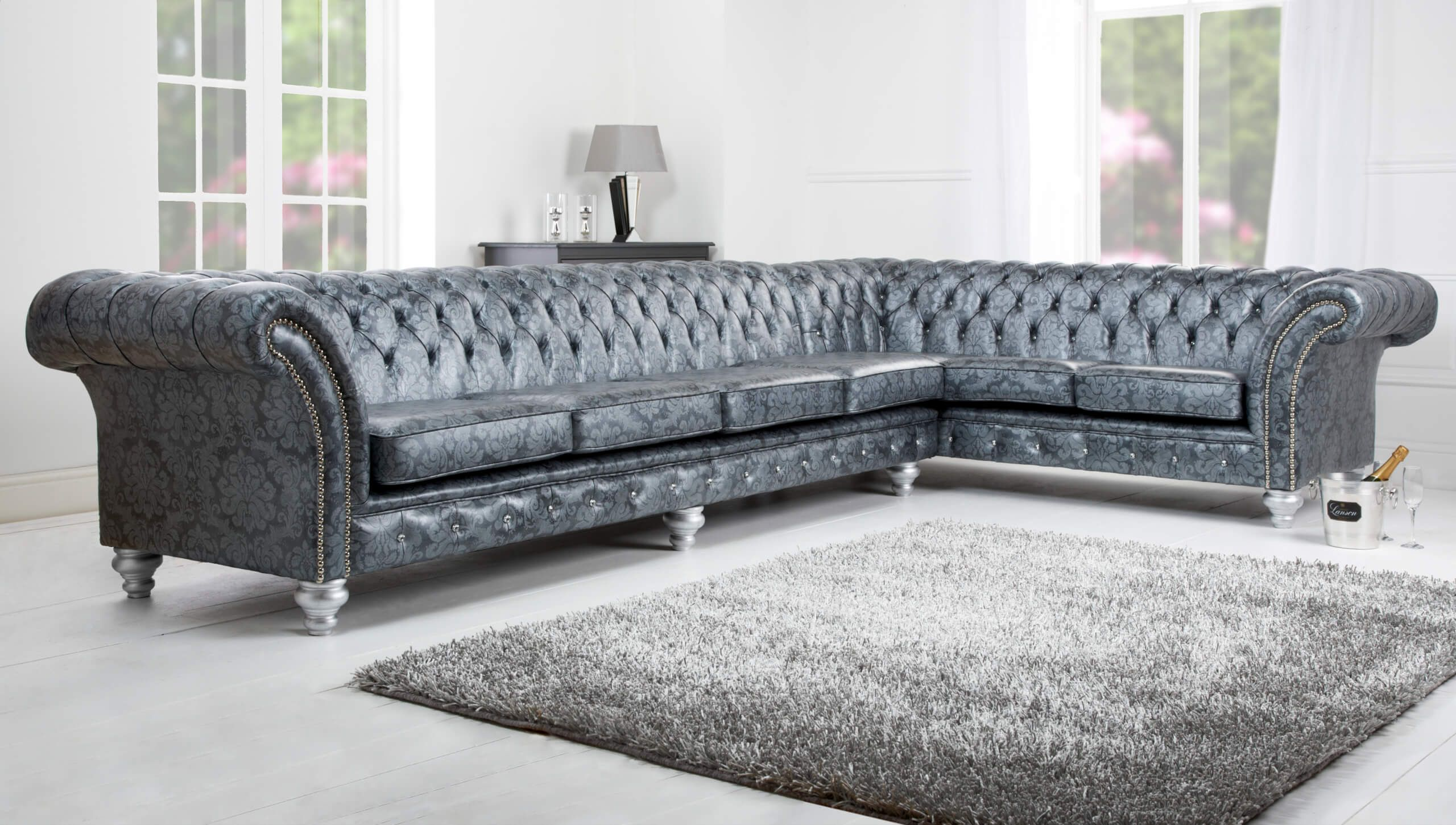 What Is A Chesterfield Nonagon Style Chesterfield Corner Sofa Leather Sofa Best Leather Sofa