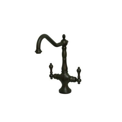 Elements Of Design Heritage Double Handle Single Hole Kitchen Faucet