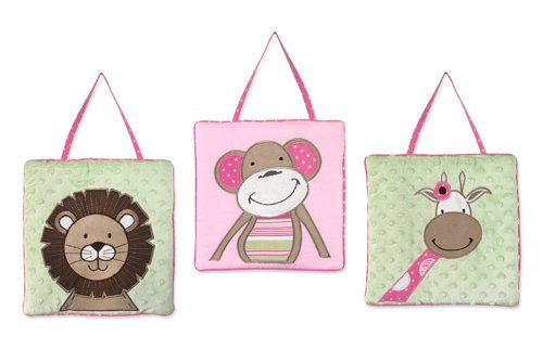 Pink and Green Jungle Friends Wall Hanging Accessories by Sweet Jojo