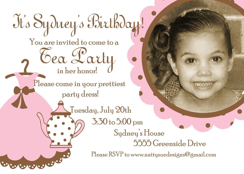 Tea Party Birthday Invitation | Birthday Party | Pinterest | Tea ...