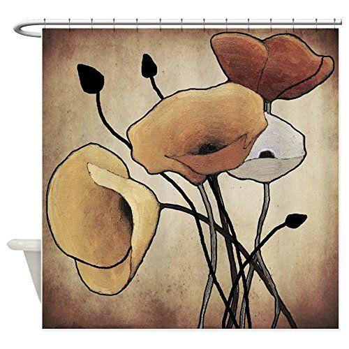 CafePress - Poppies - Decorative Fabric Shower Curtain Ca... https ...
