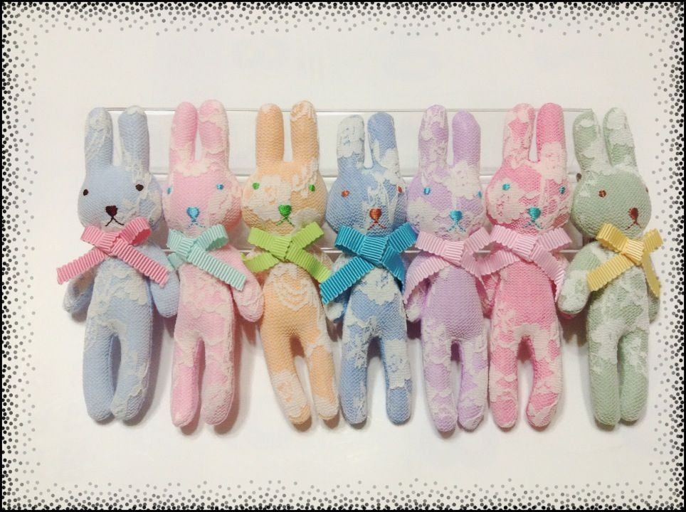 Summer pastel lace bunny $17.99