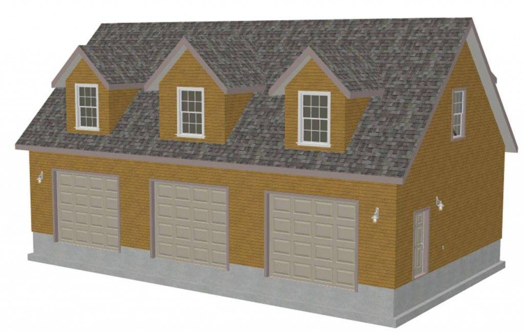 3 Car Garage w/ 3 Dormers | John\'s Garage Ideas | Pinterest | Car ...