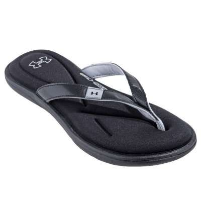 fc6aaeee3659 Under Armour Sandals  1243710 003 Marbella IV Women s Black Flip Flop  Sandals