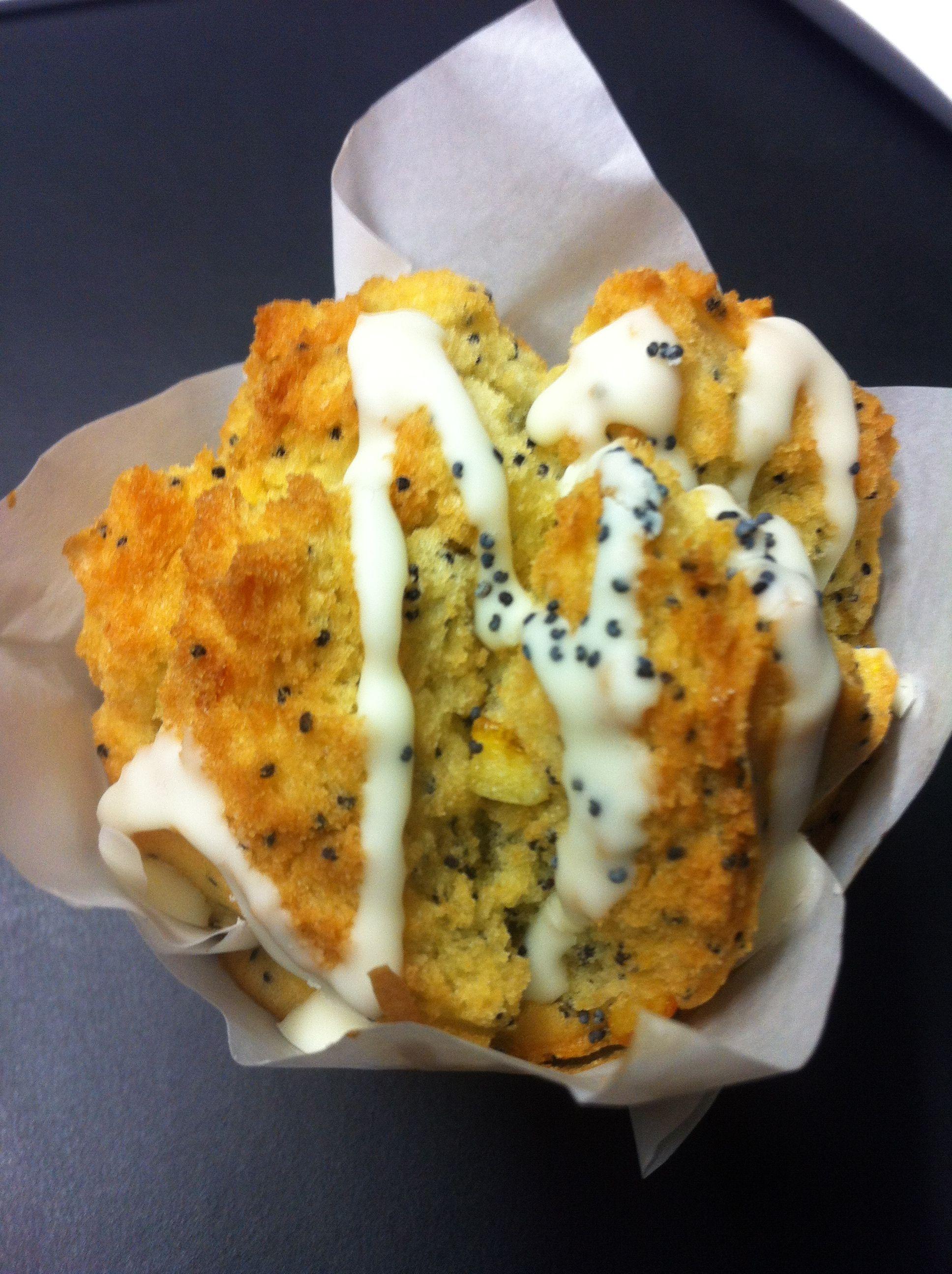 Orange poppyseed muffin :)
