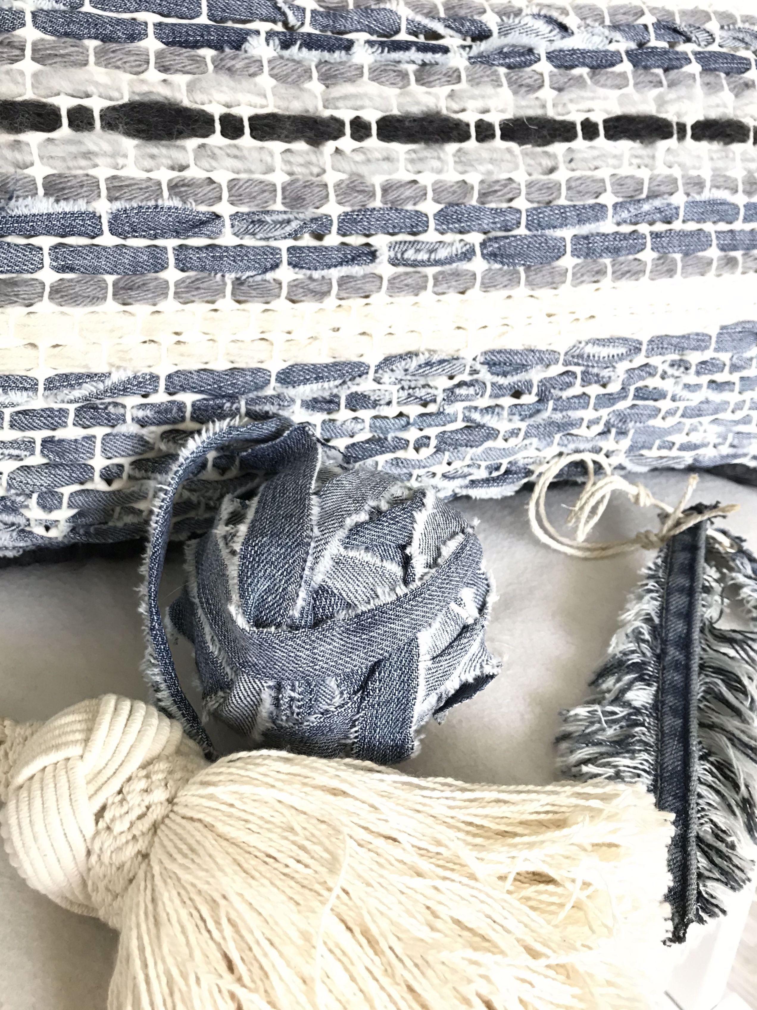 Trendiges Kissen Selber Machen Aus Wolle Jeans Und Teppichmatte
