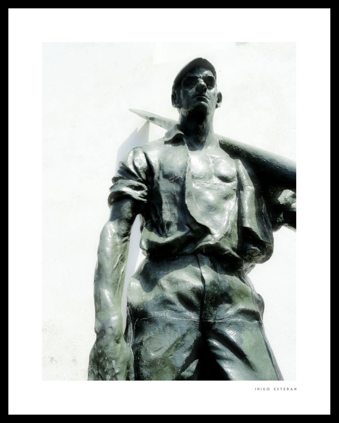 Inigo Esteban // Bronze Fisherman // 2012 Old Harbour town (Portu Zaharra) Getxo, Basque Country