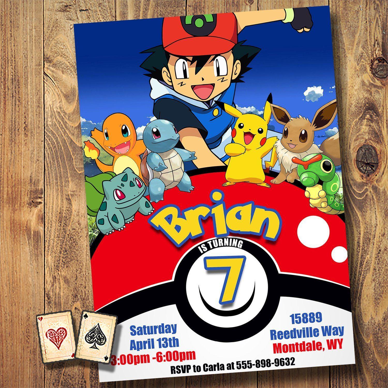 Pokeball Lineup Invitation Detective Pikachu Pokemon Invite Pokemon Party Pokemon Go Ash Poke Pokemon Invitations Pokemon Party Invitations Pokemon Party