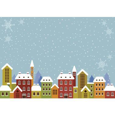 フリー背景イラスト冬 雪の降る町 36547 冬イラスト クリスマス