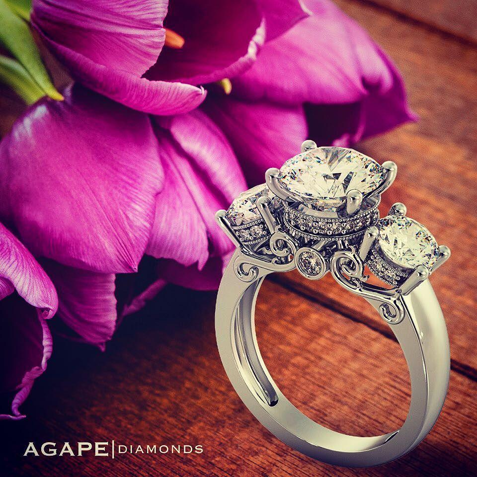 Spring Rings Model: jr8413 #agapediamonds #engagementring #engaged ...
