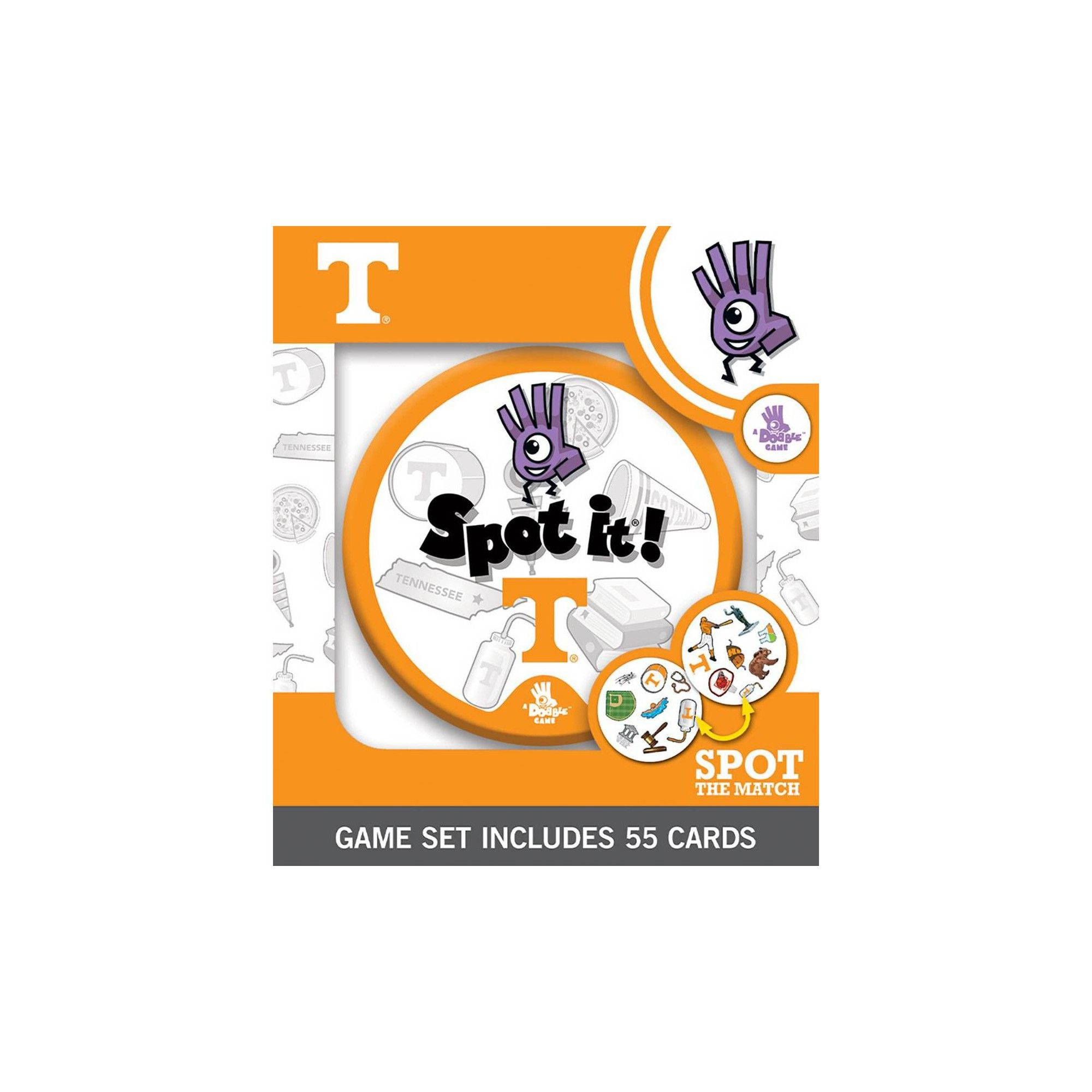 NCAA Tennessee Volunteers Spot It Game in 2020 Party