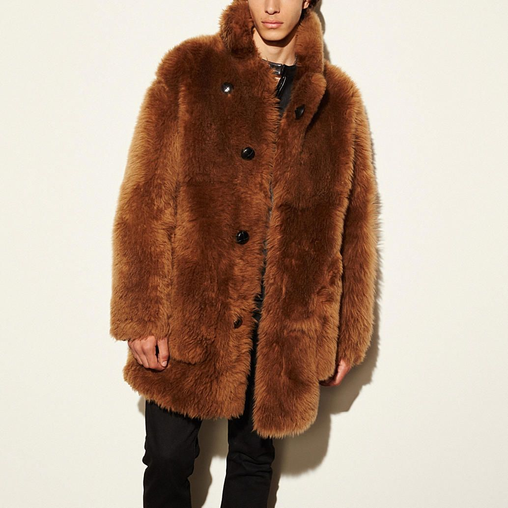94d64e26ea Toy soldier shearling pieced coat | Outer Limits! | Sherling coat ...