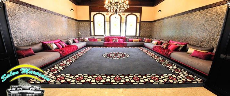 Salon marocain pour les riads de luxe et les espace vastueux et pour aussi les villas for Salon berbere moderne