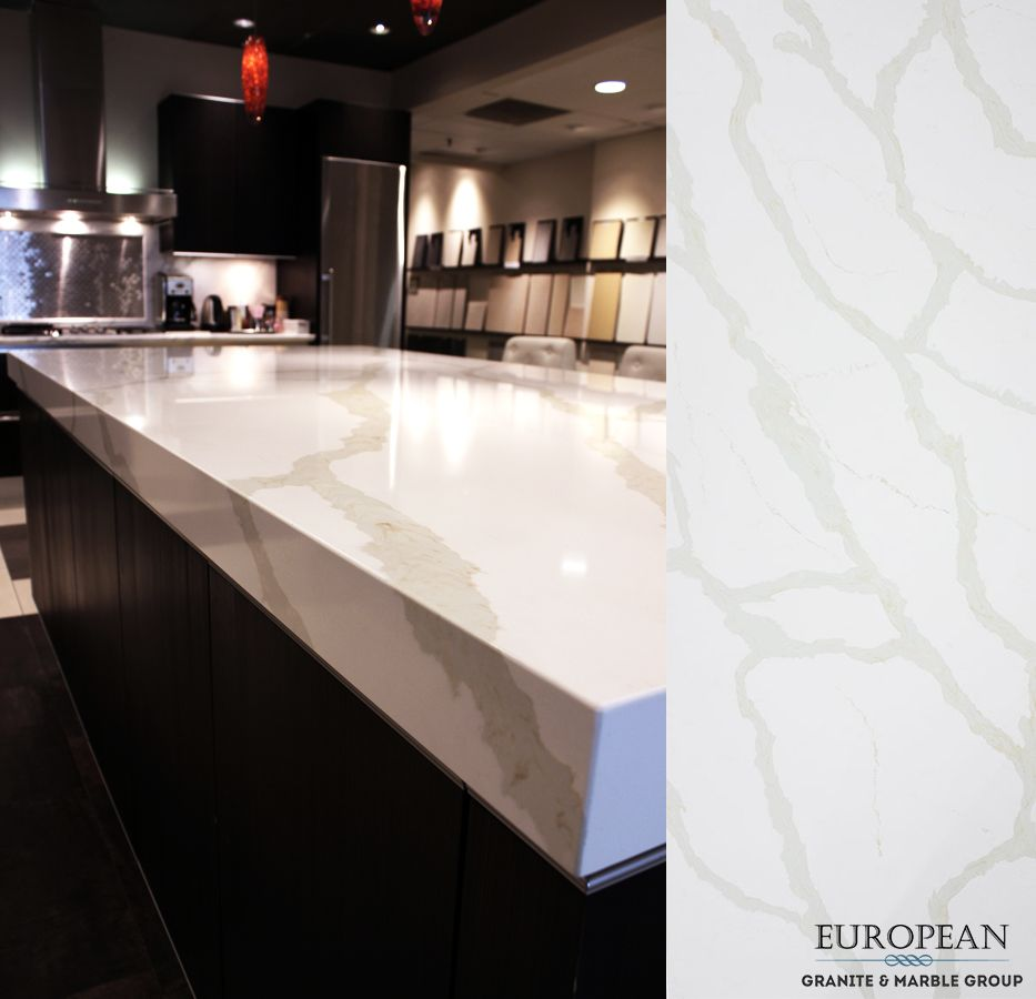 Calacatta Quartz Kitchens: Featured In This Kitchen Island Countertop, 'Calacatta