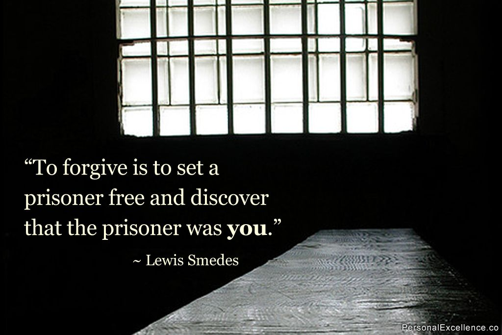 Inspirational Quote To Forgive Is To Set A Prisoner Free And
