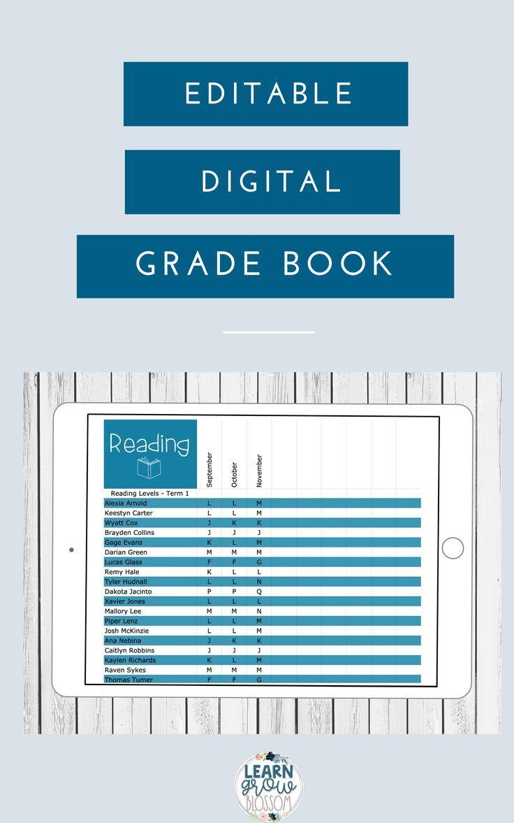 Editable Digital Grade Book Google Sheets Teacher