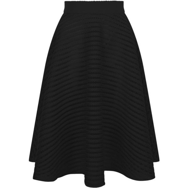 fecc8052a New Look Black Mesh Stripe Midi Skirt ($41) ❤ liked on Polyvore featuring  skirts, black, evening skirts, calf length skirts, stripe skirt, striped  midi ...