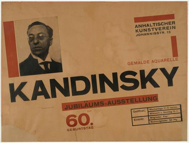 Herbert Bayer. Kandinsky utstilling 60.års jubileumsutstilling. Bauhaus/The new typography