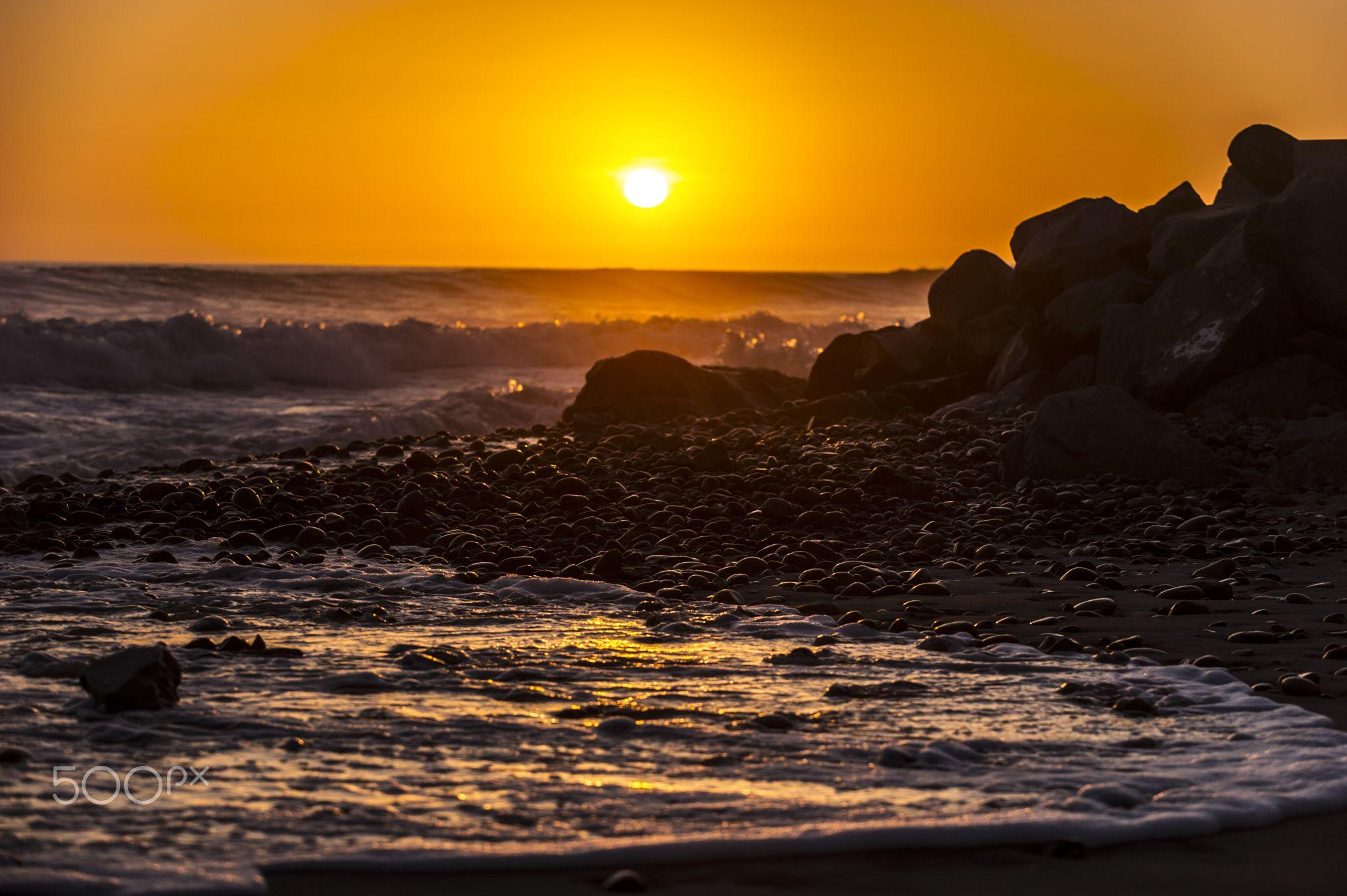 Golden Sunset in Oceanside - April 1, 2016. - Oceanside        April 1, 2016           ©2016 Rich Cruse \ CrusePhoto.com