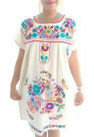 Mexican Embroidered Cotton Garments