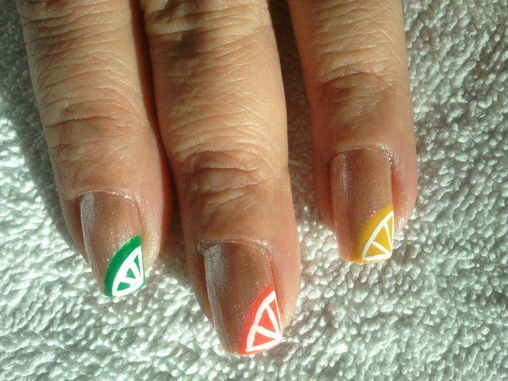my nails - citrus