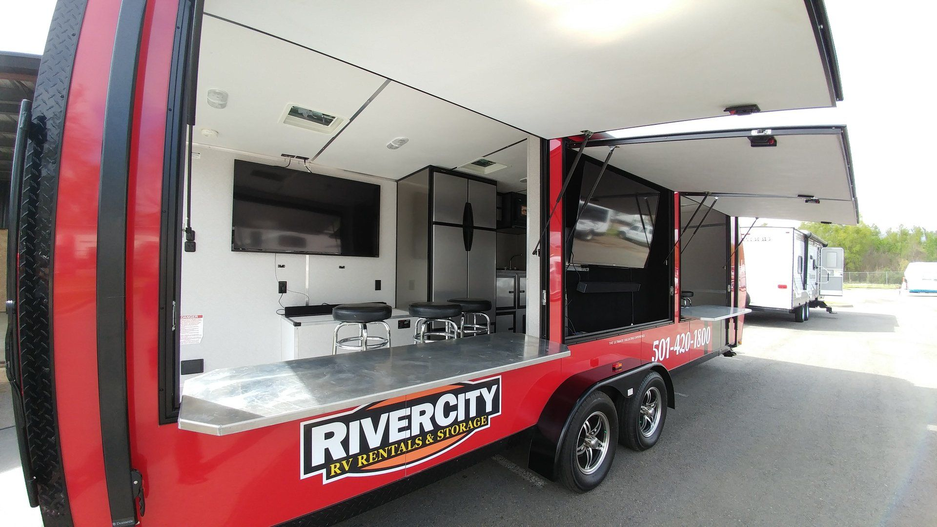 Tailgate Party Trailer Livinglite Game Day Trailer Stay Cool