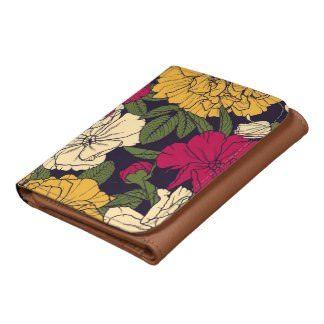 Elegant floral pattern wallets - lifestylerstore - http://www.lifestylerstore.com/elegant-floral-pattern-wallets/