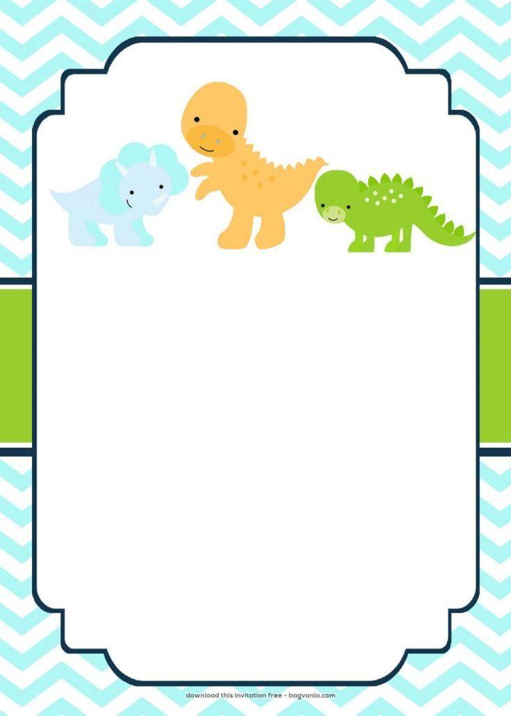 kostenlose dinosaurier geburtstagseinladungen  bagvania