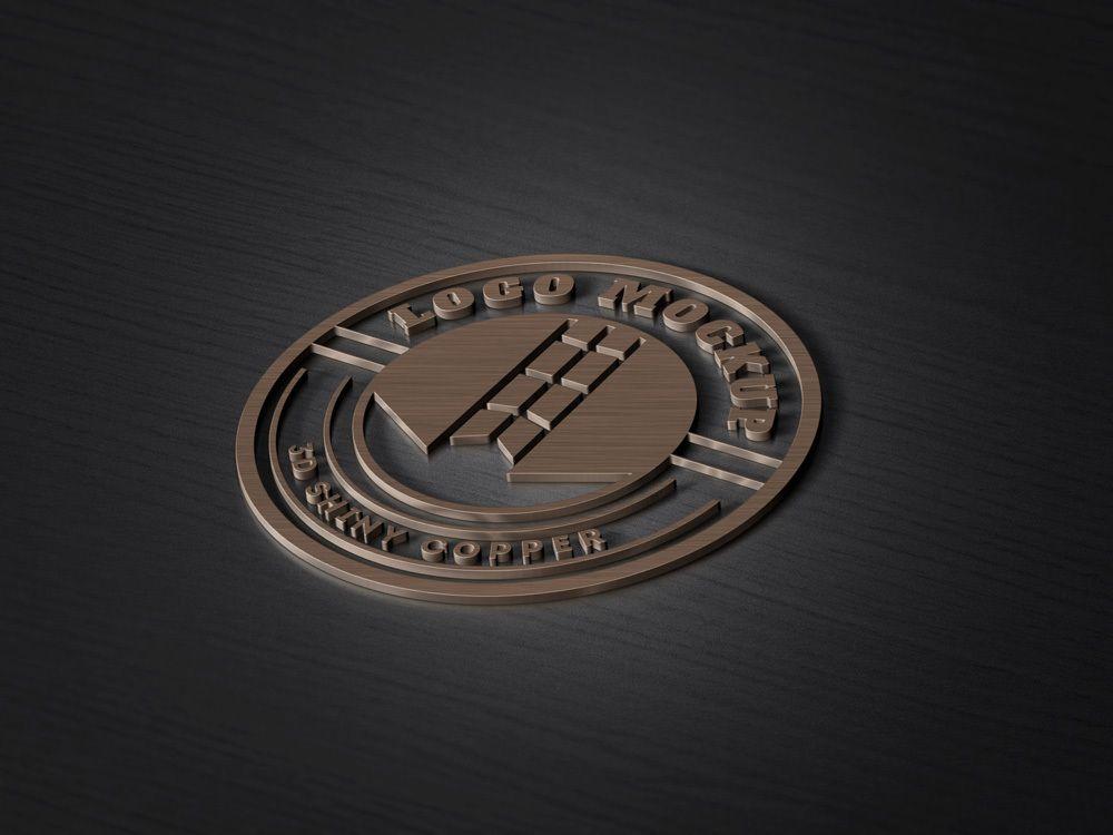 3d Copper Logo Mockup Logo Mockup Free Logo Mockup Logo Mockups Psd