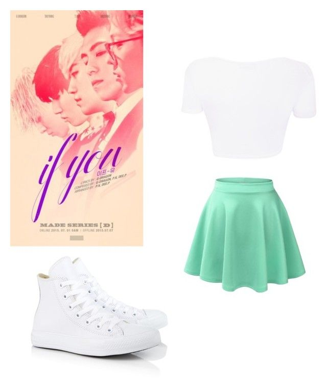 """IF YOU"" by k-pop21 ❤ liked on Polyvore featuring Converse"