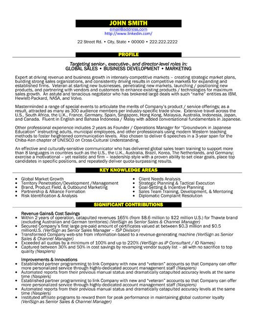 general resume templates free manager executive template project