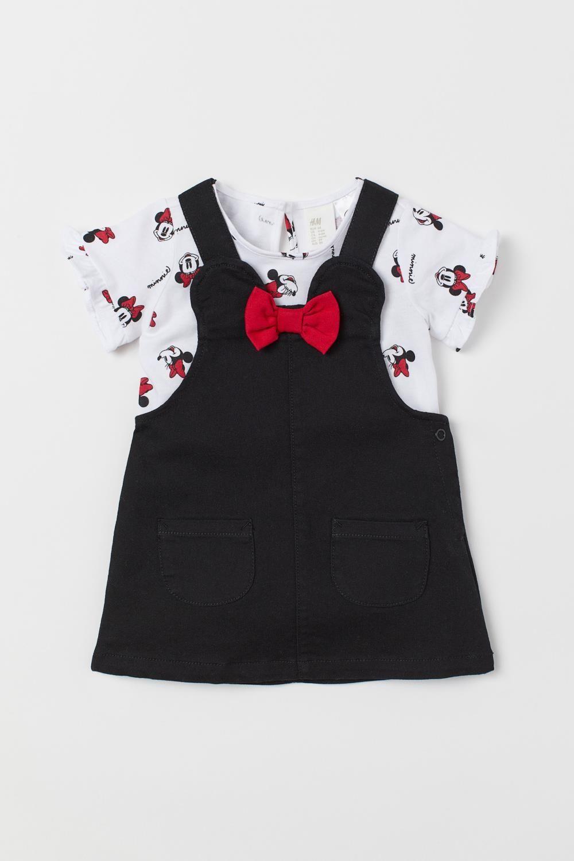 Baby Boys Girls Disney Minnie Mickey 7 Pack 7 Days Body Sleepsuit set 100/%cotton