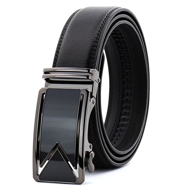 Men Black Automatic Click Buckle Ratchet luxury Belt Buckles For 3.5 CM Belt