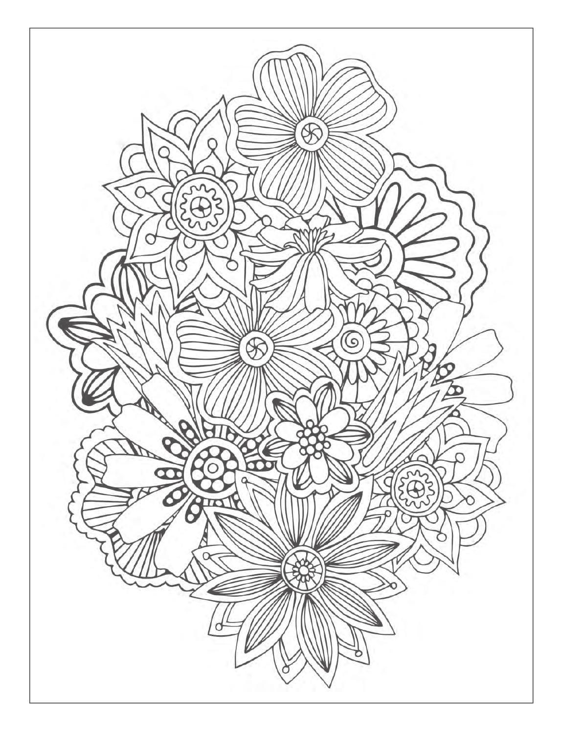 Beautiful Flowers Detailed Floral Designs Coloring Book Preview Abstract Coloring Pages Designs Coloring Books Antistress Coloring