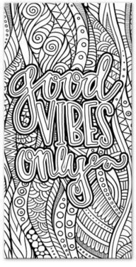 """Good Vibes Only"" Custom Coloring Canvas Wall Art ..."