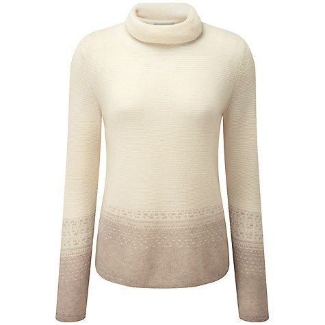 Buy Pure Collection Aimee Fair Isle Cashmere Jumper, Natural White ...