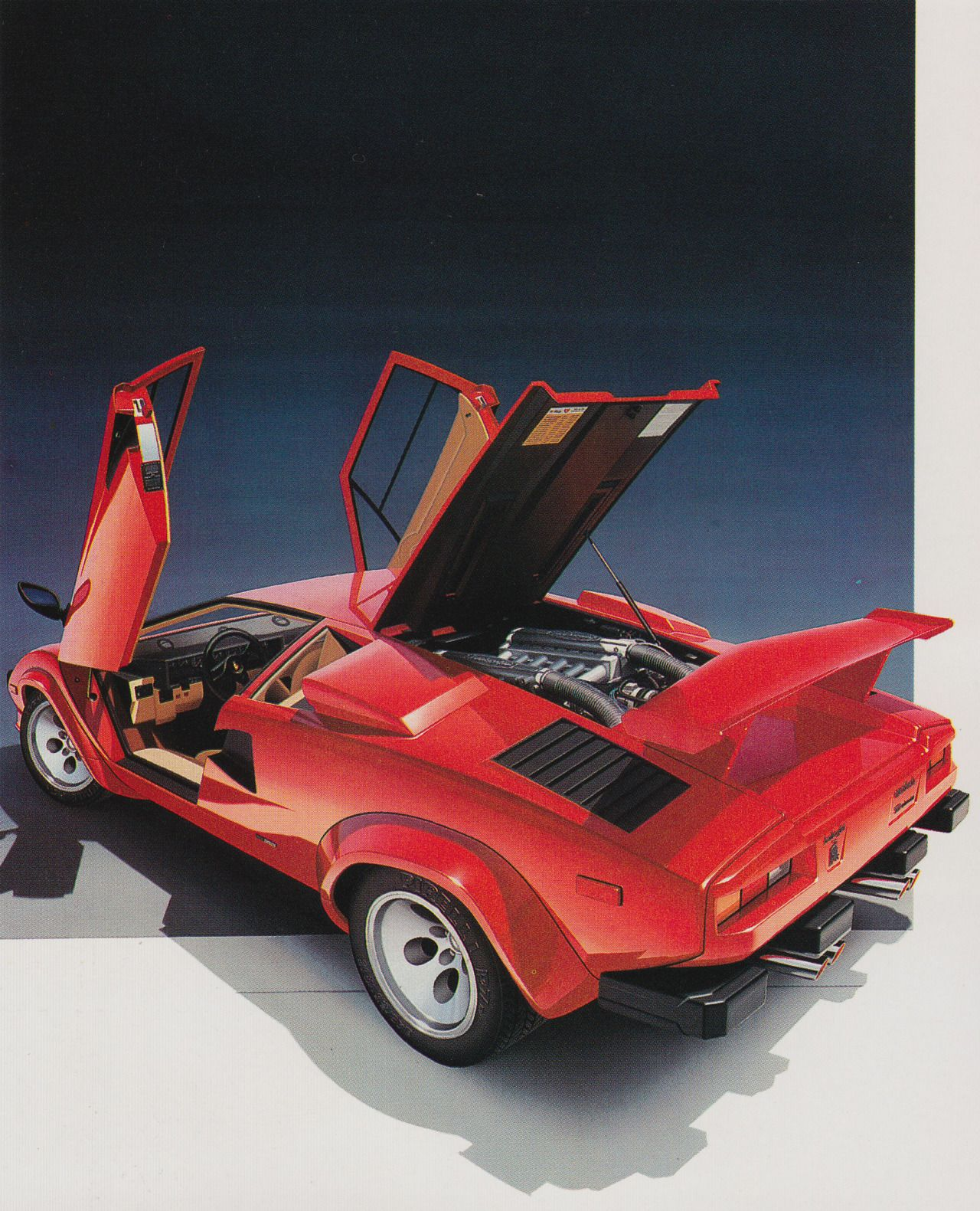 Countach Photo 1980s Graphics In 2019 Retro Cars Automotive